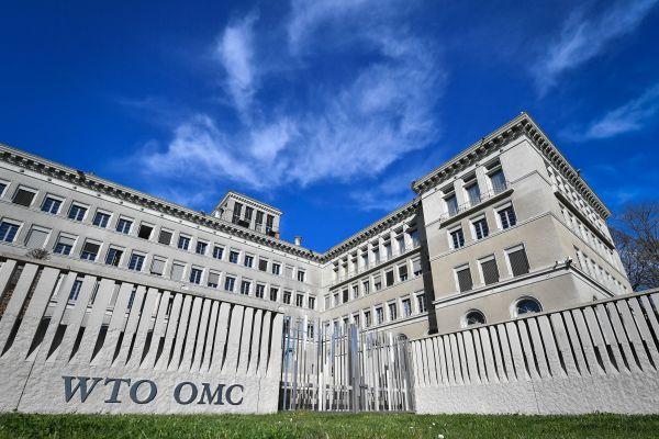资料图片:WTO总部。(法新社)
