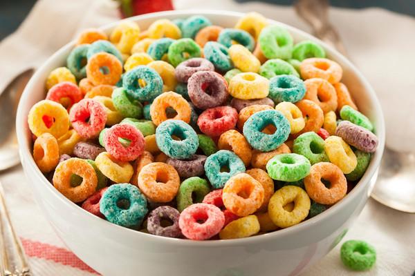 """""""生果圈""""本来是一种生果味谷物早饭 @IC Photo"""