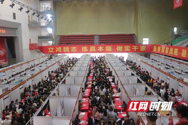 供需比约1:3 湖南工商大学举行毕业生大型供需见面会