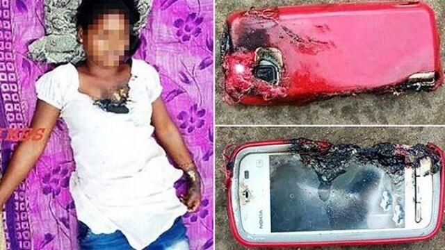 18岁少女边充电边打电话 手机突然爆炸被炸死(图)