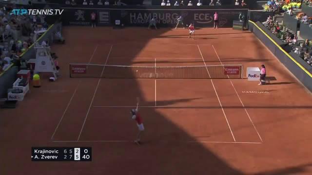 汉堡公开赛男单1/4决赛,三盘逆转克拉吉诺维奇