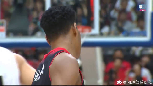 中国男篮劲敌,日本新星八村塁热身赛狂轰31分,背身单打亮了!