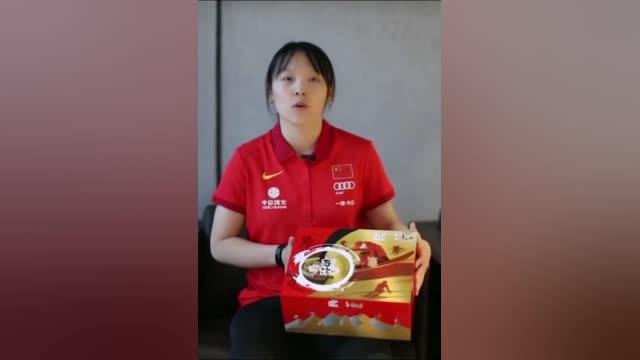 蔡雪桐晒出的这款中国冰雪远动员定制版康师傅Express速达面馆