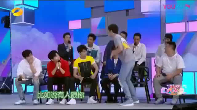 快乐大本营:吴磊完美飞跃,李现蒙了,台下尖叫声不断!