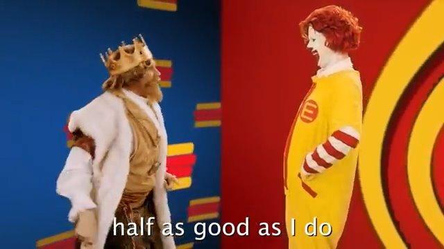 麦当劳叔叔和汉堡王的Battle与互相diss,你看好哪一个?