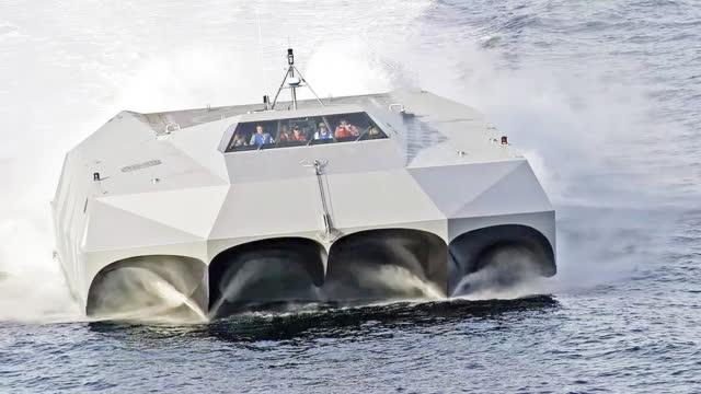 美军神秘五体船曝光 疑为海军陆战队偷袭利器