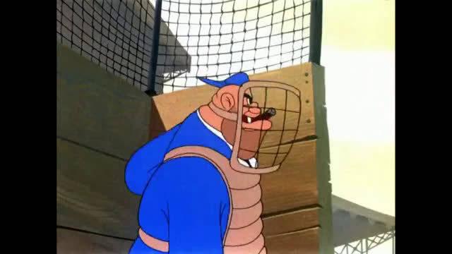 兔八哥秀球技,完虐整个棒球队。