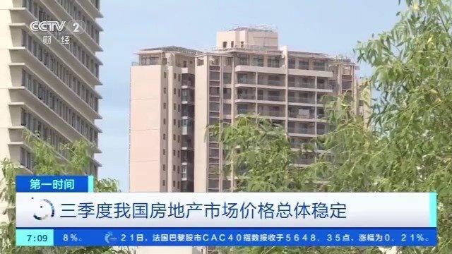 9月大中城市新建商品住宅销售价格微涨