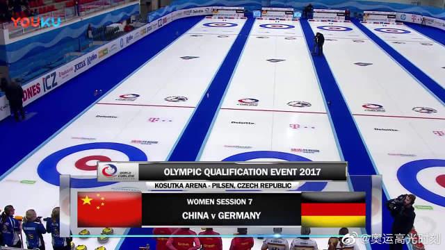 2018平昌冬奥会女子冰壶,中国队大比分战胜德国。
