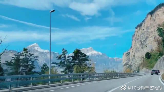 米兰开往苏黎世,途径阿尔卑斯山,瑞士不愧为欧洲最美的国度!