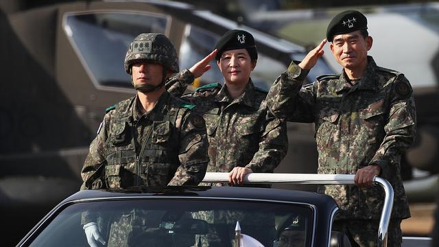 韩国陆军航空作战司令部首位女司令上任