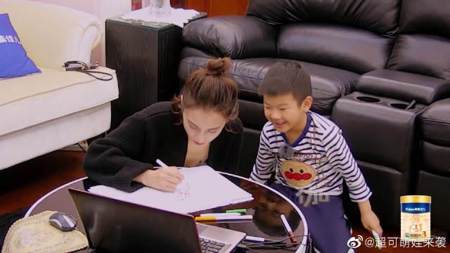 妈妈是超人3:安迪画作超可爱,黄圣依看了想哭!