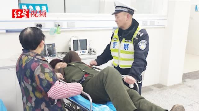生死时速!老人突发脑溢血 交警开道仅用13分钟护送入院