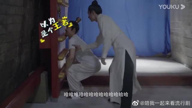 黄志忠亲身为罗晋示范,在片场应该怎样健身