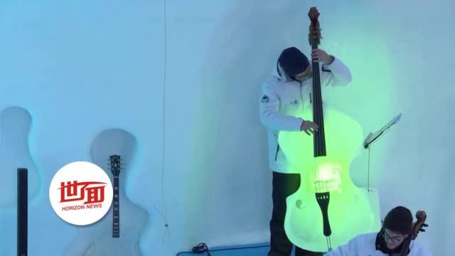 即将融化的冰川上开音乐节:冰提琴冰吉他合奏乐章