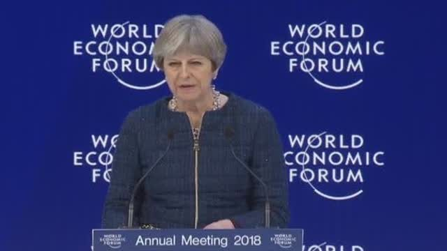 英国首相特雷莎·梅2018达沃斯世界经济论坛最新演讲