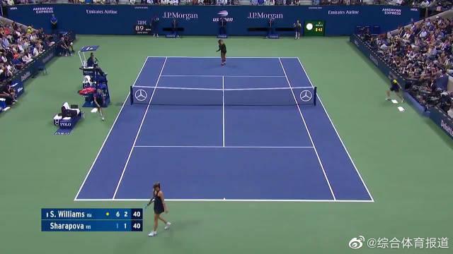 小威廉姆斯横扫莎拉波娃晋级美网第二轮,19连胜俄罗斯人