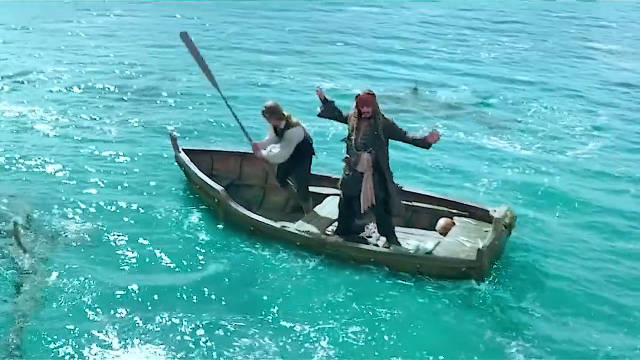 电影加勒比海盗5,这才是真正的特效!