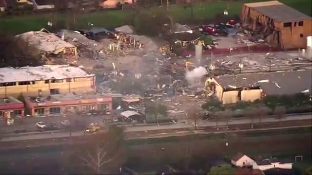 德克萨斯州休斯顿一家工业公司的机械车间发生大爆炸