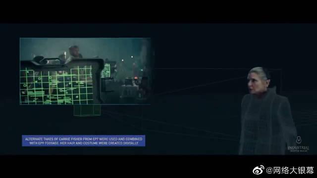 莱娅公主戏份CG合成《星球大战:天行者崛起》幕后特效揭秘
