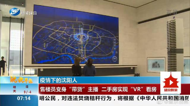 """疫情下的沈阳人 售楼员变身""""带货""""主播 二手房实现""""VR""""看房"""