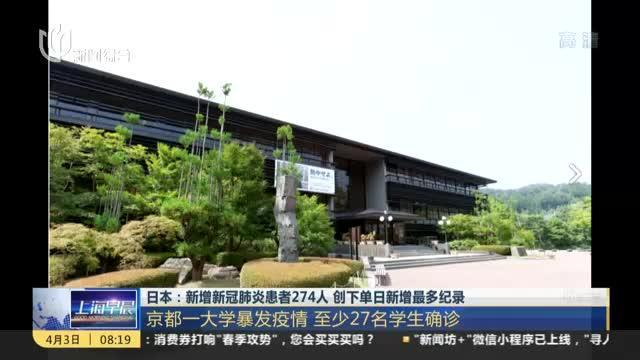 日本疫情:新增新冠肺炎患者274人,创下单日新增最多纪录