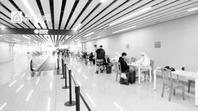 """""""闭环下的口岸""""如何通关?实地探访广州白云机场"""