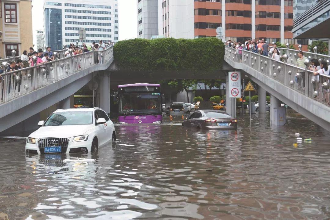 ▲6月8日,广州普降大雨,多地出现积水、内涝。 图片来源:视觉中国