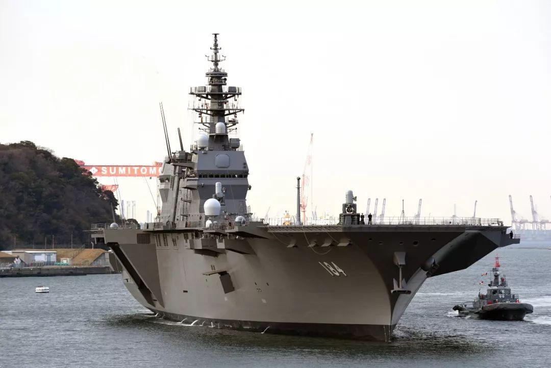 """▲日本""""添贺""""号直升机航母"""