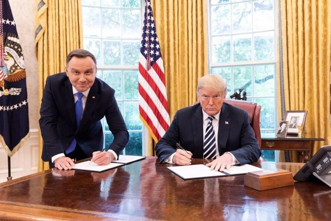▲美國總統川普與波蘭總統杜達