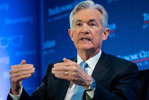 美聯儲主席鮑威爾1月10日在華盛頓經濟俱樂部發表講話。法新社