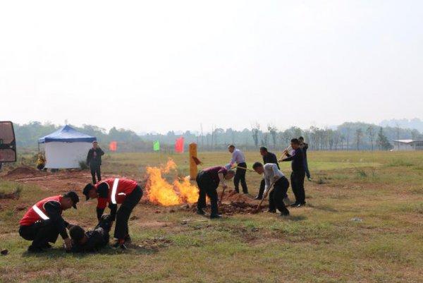 长输油气管道泄漏着火事故应急救援演练