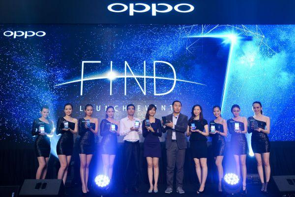 資料圖片:中國品牌手機OPPO在馬來西亞上市。(新華社)