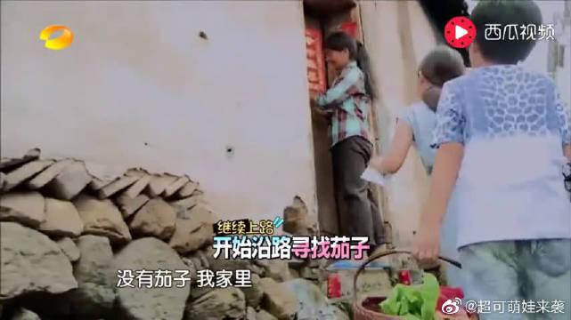 爸爸去哪儿:杨阳洋指着姚明对爸爸说,他的脸型好像姚明,太逗了