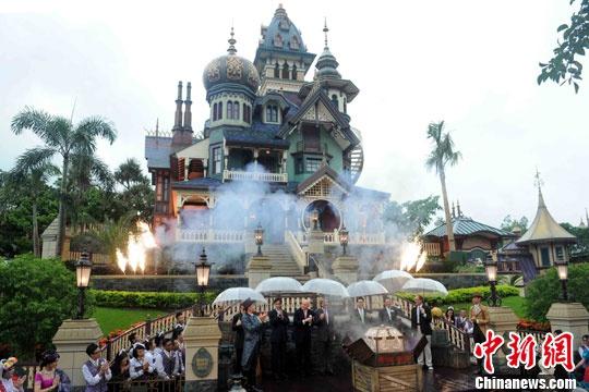 资料图:香港迪士尼乐园。中新社 任海霞 摄
