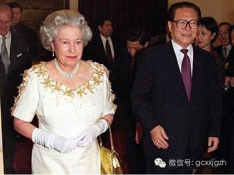 江泽民与英国女王伊丽莎白二世