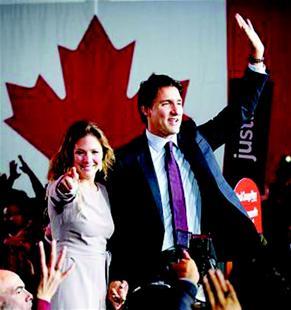 特鲁多当选加拿大总理