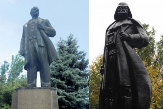 乌克兰列宁像变星球大战黑武士(图)
