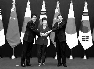 中日韩领导人再次聚首 中国政府网供图