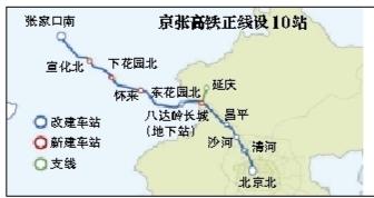 正线全长174公里,全线共设10个车站。设计时速120公里至350公里,年单向运力6000万人,建设工期4年6个月。新京报制图/许英剑
