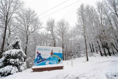 昨日,北京延庆降下大雪,2022冬奥赛场小海坨山银装素裹。图/CFP