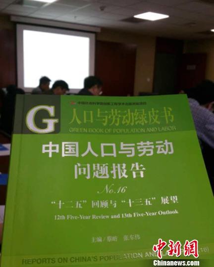 12月2日,《人口与劳动绿皮书:中国人口与劳动问题报告No.16》发布会在北京举行。 中新网记者李金磊 摄