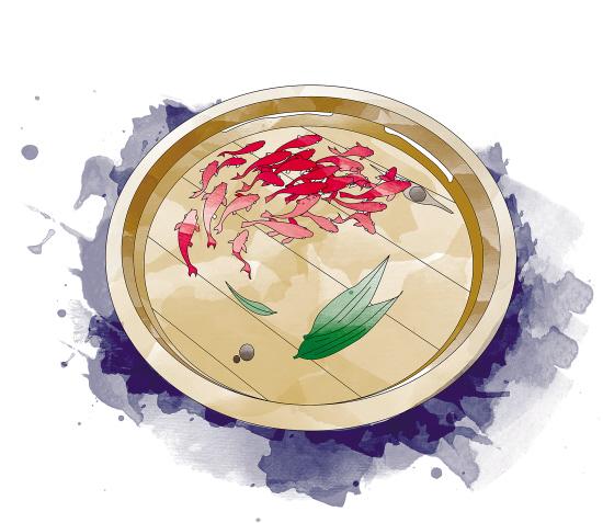 """阿驹的树脂画作品:""""水中""""鱼群齐游"""
