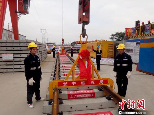 广州地铁公司透露,该线路预计2016年底建成通车. 刘卫勇 摄广州图片