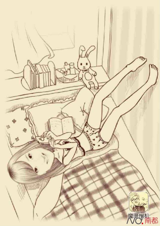 床的简笔画步骤图解