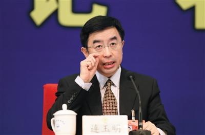 2014年,市政协十二届二次集会记者会上,市政协委员连玉明。新京报记者 薛珺 摄
