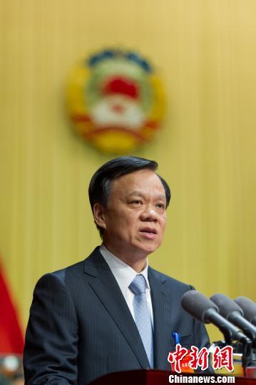 资料图:贵州省委书记,贵州省第十二届人民代表大会常务委员会主任陈敏尔。 贺俊怡 摄