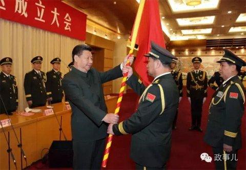 习近平将军旗授予北部战区