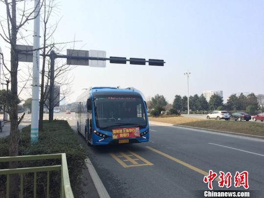 浙江金华首创纯电动快速公交模式 掀绿色出行高潮图片