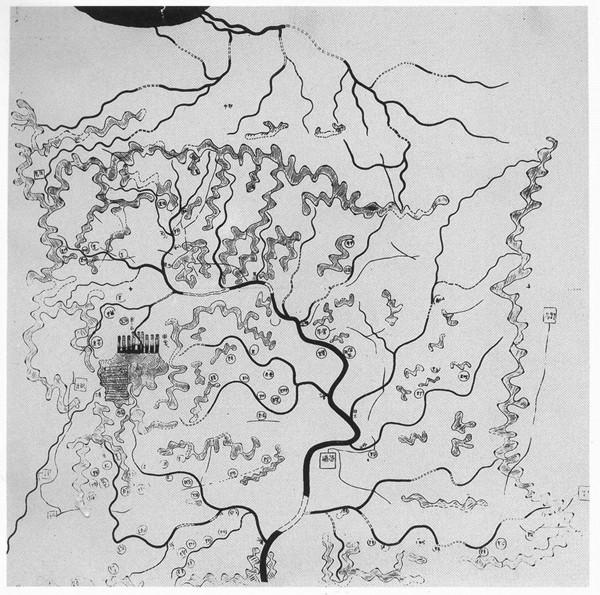 大学校园手绘地形图